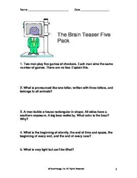 Brain Teaser Pack
