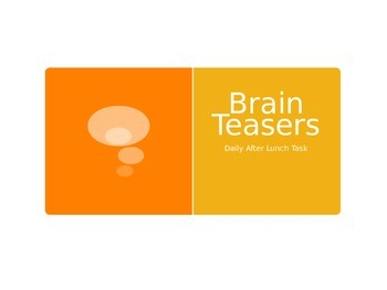 Brain Teaser Power Point