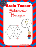 Math Brain Teaser: Subtractive Hexagon