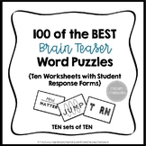Brain Teaser Word Puzzles (Set of 100)