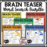 Brain Teaser Word Search Puzzles BUNDLE - 30 Themed Puzzle