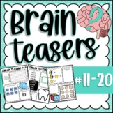 Brain Teasers Bundle #11-20; Riddles, Brain Breaks, Logic