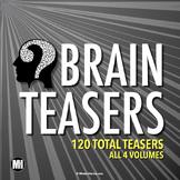 Brain Teasers Bundle: 90 Logic Puzzles, Riddles, & Brain Breaks