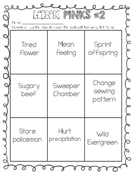 WORD PUZZLES Brain Teasers Hink Pinks, Vocabulary Builder, Grades 2-6