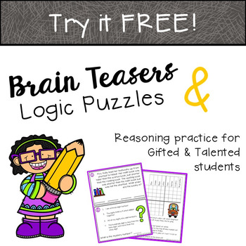 Brain Teasers & Logic Puzzles TRY FOR FREE