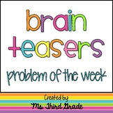 Brain Teasers- Problem of the Week