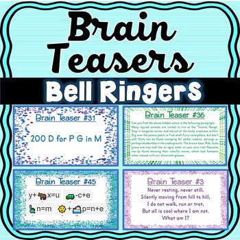Brain Teasers Riddles Brain Breaks Puzzles Bell Ringers