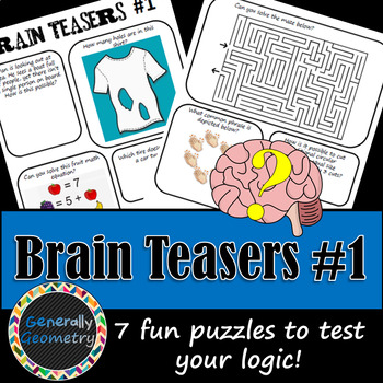 Brain Teasers Set #1; Riddles, Logic and More!