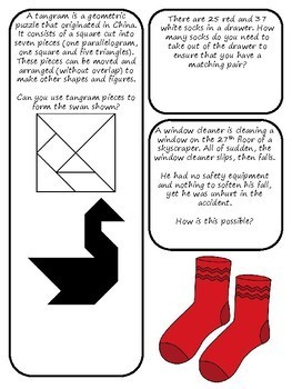 Brain Teasers Set #4; Riddles, Logic Puzzles and More!