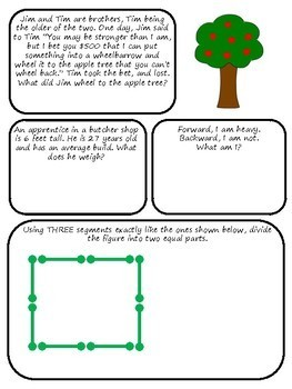 Brain Teasers Set #9; Riddles, Logic Puzzles and More!
