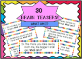 Brain Teasers Task Cards! What Am I?