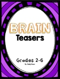 Brain Teasers! Word PUZZLES for Grades 2-6th!
