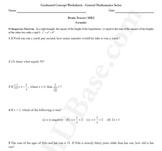 Brain Teasers Worksheet MD2 - Math probs & puzzles (Medium