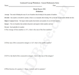 Brain Teasers Worksheet SE1 - Math probs & puzzles (Somewhat Easy)
