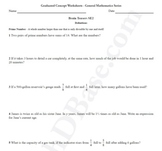 Brain Teasers Worksheet SE2 - Math probs & puzzles (Somewhat Easy)