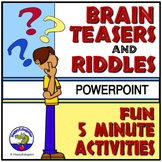 Brain Teasers and Riddles PowerPoint