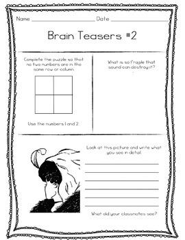 Brain Teasers for the Sub Tub
