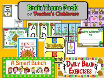 Brain Theme Pack from Teacher's Clubhouse