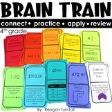 Brain Train Math Dominoes Fourth Grade