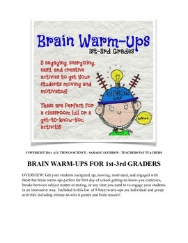 Brain Warm-ups for 1st-3rd Graders