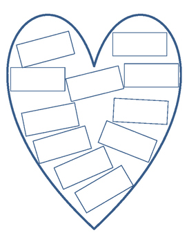 Brainstorm Writing Topics: Heart Printable