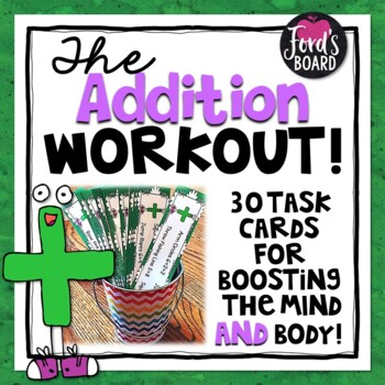 30 Addition Fluency and Brain Breaks Task Cards