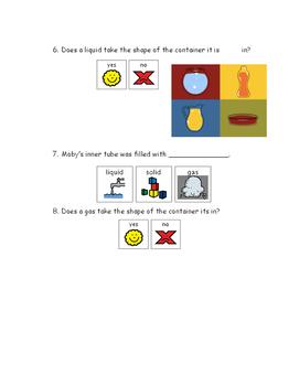 Brain pop Junior: Solids, Liquids, and Gases Questions