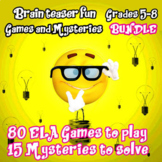 BRAIN TEASER MIDDLE SCHOOL BUNDLE- 80 GAMES and 15 MYSTERIES