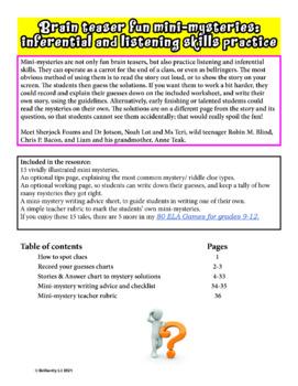 BRAIN TEASER MINI-MYSTERIES: GRADES 9-12  INFERENCE SKILLS