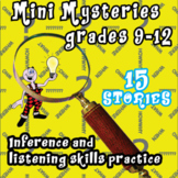BRAIN TEASER MYSTERIES FOR GRADES 9-12 Making inferences