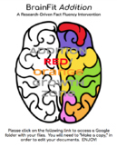BrainFit Fact Fluency Intervention:  RED/ORANGE Growth zone (ADDITION)