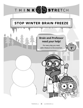 BrainFreeze! Winter Break Activity Packet - 1st grade