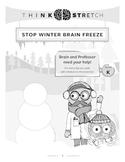 BrainFreeze! Winter Break Activity Packet - Kindergarten