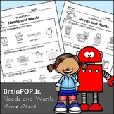 Brain POP Jr. Needs and Wants - Quick Check