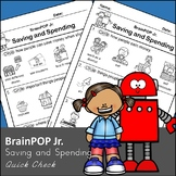 Brain POP Jr Saving and Spending - Quick Check