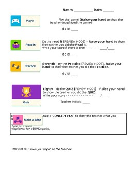 BrainPop ELL Independent Work Support Checklist