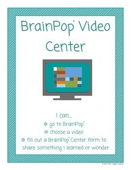 Library Centers Using BrainPop and BrainPop Jr.