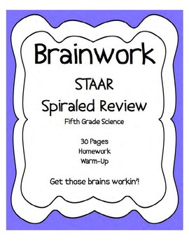 STAAR SPIRALED REVIEW (25 ASSIGNMENTS) Fifth Grade Science