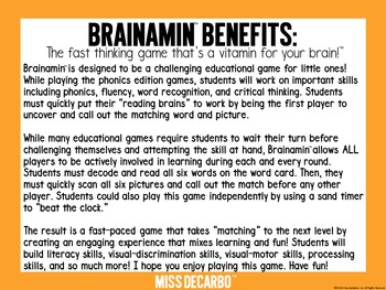 Brainamin™ Phonics Edition: Long Vowel O (Silent E)