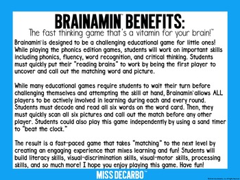 Brainamin™ Phonics Edition: Short A