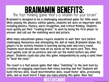 Brainamin Phonics Short I