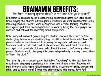 Brainamin Phonics Short O