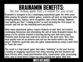 Brainamin Phonics Short Vowel Bundle