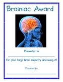 Brainiac Award
