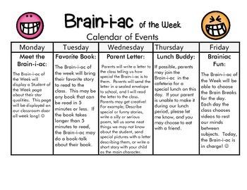 Brainiac of the Week Calendar