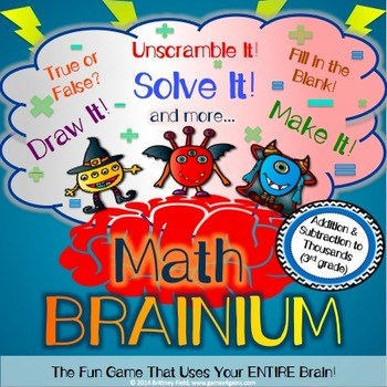 3rd Grade Addition Within 1,000 and Subtraction Within 1,000 Game