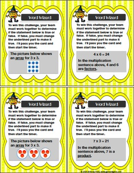 Multiplication Game: A Multiplication Facts Game