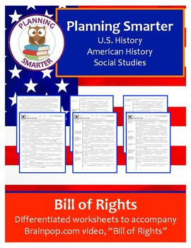 Brainpop Bill of Rights Worksheet - differentiated (3 unique products)