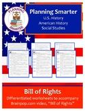 Brainpop Bill of Rights Worksheet - scaffolded (3 unique p