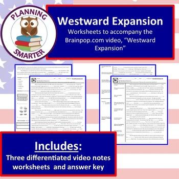 Westward Expansion Worksheets Teaching Resources Teachers Pay Teachers